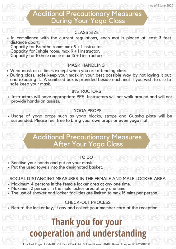 Life Hot Yoga SOP Pg3